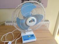 Electric Fan - Desk Top - vintage - 3 speed - Briticent