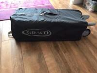 Graco travel cot and Baby weavers travel mattress. £10 for both.