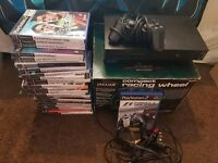fat ps2 Console and 26 games And a dance mat