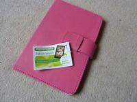 pink tablet wallet ideal for kindles and ipad mini