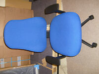 PSI NOVA DELUXE POSTURE TASK / COMPUTER / ERGONOMIC CHAIR - BLUE FABRIC