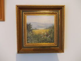 Peter Jay oil painting - Poppies on the south downs - oil painting