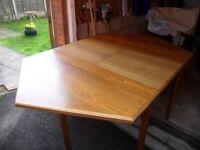 Oak hexagon dining table