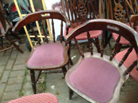 Retro captain English pub chair wood dining kitchen restaurant bar cafe dining