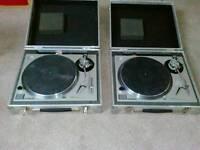 Technics 1200 (pair) with flightcases