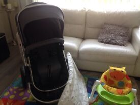 I safe pram , high chair , play mat and activity seat