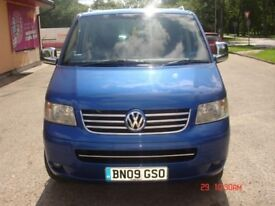 VW T5 TRANSPORTER ,SHUTTLE SE 130 LWB ,2.5 TDI,MANUAL,9 SEATS