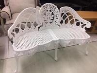 Beautiful white bench new