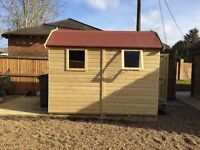 New Garden Shed, Superior Heavy Duty Tanalised Wood Dutch Barn, size 7ft x 5ft from just £695.00