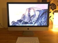 "Apple iMac (Mid-2010), 27"" screen, 2.8 GHz processor, 16GB RAM, 1TB Harddrive"