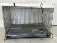 Savic 91cm Dog Crate with PVC spot cover