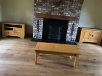 Matching oak sideboard, Tv and coffee table