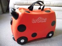 Red ladybird Trunki kid's suitcase