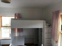 Stuva Ikea Cabin Bed (desk and wardrobe includes)