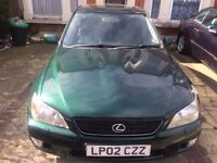 Lexus IS 200 2.0 Fully Automatic Leather Interior ***VERY LOW MILEAGE*** WITH SAT-NAV 1 YEAR MOT