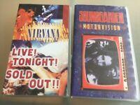 Grunge VHS Movie/Book Collection - Nirvana & Soundgarden All Superb Condition