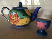 Wittards teapot and egg cup , beautiful in perfect condition