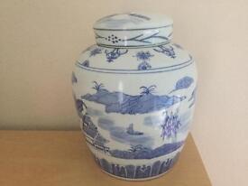Blue and White Ginger Jar.