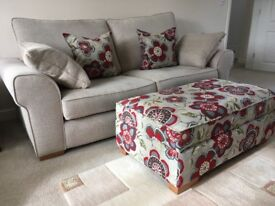 3 Seater sofa and footstool