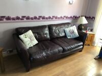 Three seat sofa, chair, foot rest