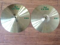 "Wokingham Drum Sales - Pearl CX500 14"" Hi Hat Cymbals - Excellent"