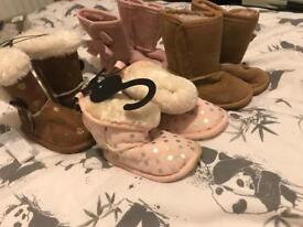 Bundle of 9 pairs of boots / shoes 9-18 months