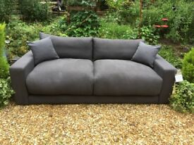 LOAF Sofa Settee - BRAND NEW Large Atticus Sofa Settee in Dark Grey Clever Linen