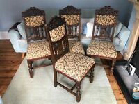 Antique Victorian Oak Dining Chairs