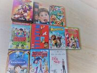 18 childrens kids family films PG/U - reef,madagascar,horrid henry,thunderbirds,cloudy meatballs etc