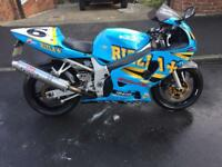 Suzuki GSXR600 , painted in RIZLA livery