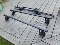 Avensis roof rack and bike carriers