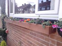 Garden flower planters, Decking style window boxes, many sizes/colours,quality handmade.