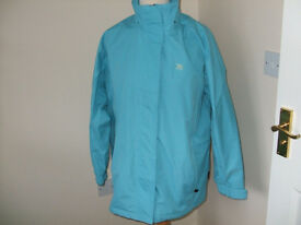 Ladies Trespass Jacket Size L Windproof, Waterproof, Taped Seams Detatchable Hood
