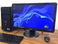 "Powerful DELL Win 10 - intel Core i7 - 8GB Ram - 2TB HDD- GeForce + 23"" Full HD Monitor Computer"
