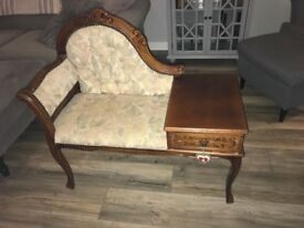 Antique Chair with Drawer