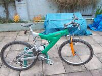 raleigh max aluminium full suspension mountain bike