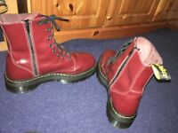 doctor martens almost new cherry burgundy red UK size 12- EU 47