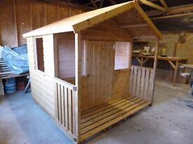 CHILDRENS PLAYHOUSE 6ft X 4ft with varandah and porch.