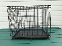Small or puppy dog cage with side and front doors
