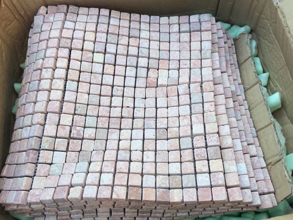 Natural Small Stone Square Mosaic Tile Sheets : Floor Wall Kitchen ...