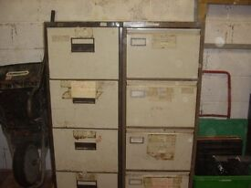 two metal filing cabinets(auld scabby things!!) for shed or garage