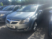 Vauxhall Corsa 1.2 Petrol 3 Door Manual Hatchback Silver 2010 Bargain