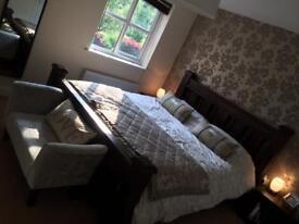 Solid oak super king bed