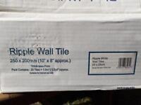 White ripple effect tiles 200x250mm 3sq.m