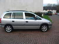 vauxhall zafira 16v club 1786cc mot april 17 £550