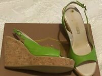 Russell and Bromley leather/ cork sandals/wedges
