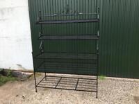 Rod Iron Shelving Unit