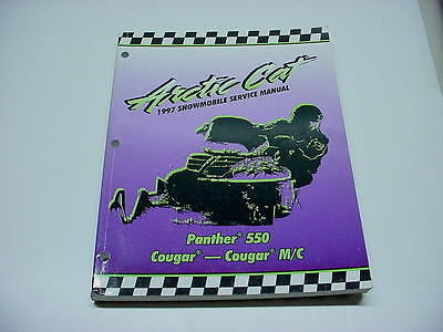 Arctic Cat 1997 Panther Cougar 550 Snowmobile Used OEM Service Manual #120