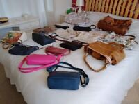 17 handbags, various sizes and colours