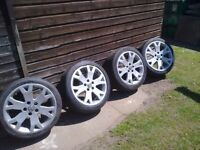 VAUXHALL ASTRA/ZAFIRA 17INCH GSI WHEELS/TYRES , IN VERY GOOD ORDER